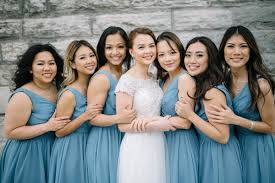 slate blue bridesmaid dresses 5 reasons dusty blue bridesmaid dresses are the shade for you