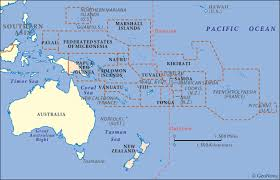 map of australia and oceania countries and capitals oceania australia geography and maps howstuffworks
