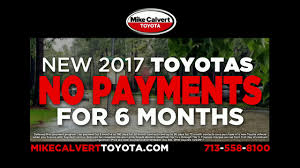 toyota financial website mike calvert toyota hurricane harvey no payments on 2017