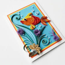 fish greeting card birthday card for kids card for boy