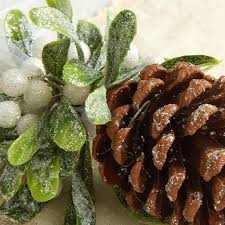 frosted mistletoe pinecone ornament ornaments