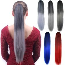 ponytail hair extensions jaw clip ombre color ponytail hair extension pony tails