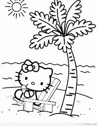 Hello Kitty Beach Coloring Pages Timykids Hello Tree Coloring Page