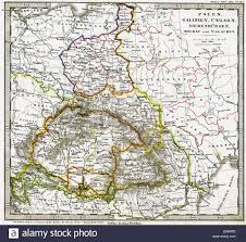 Map Central Europe by Cartography Maps Central Europe Poland Hungary Galicia Stock