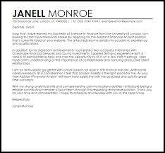 entry level position cover letter sample cover letter for a finance job job cover letters livecareer