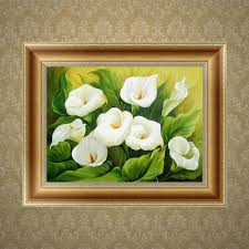 Calla Lily Home Decor Online Shop New Diy 5d Diamond Painting Calla Lily Embroidery