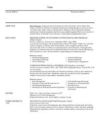 Sample Resume Business by 7 Best Resumes Images On Pinterest Example Of Resume Education