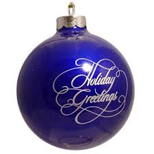 blue custom logo ornament greetings