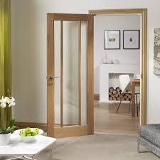 Interior Veneer Doors Xl Joinery Oak Veneer Worcester 3 Panel Clear Glazed Fd30