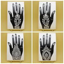 10pcs lot left right henna flower hand tattoo stencil indian henna