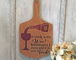 Wine Kitchen Decor Will Cook For Wine Etsy