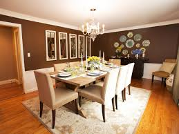 Elegant Dining Room Ideas Download Brown Dining Room Decor Gen4congress Inside Brown