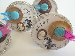 napkin rings buttons a mixed media masterpieces shabby chic style