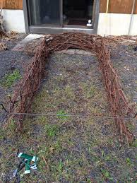 wedding arches made of branches and justin s diy wedding how to make a grape vine
