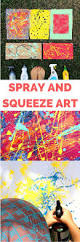 recycled spray and squeeze art painting with kids create amazing