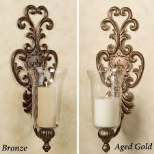 outdoor wall planters wrought iron decorative sconces plants