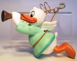 donald duck with trumpet as ornament grolier from our
