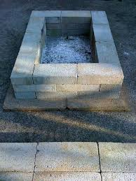 Block Firepit How To Build A Square Cinder Block Pit Design And Ideas