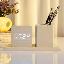 online buy wholesale wood digital clock from china wood digital
