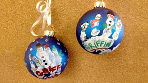handprint snowman ornaments grandparents