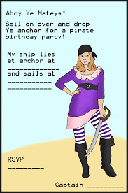 Birthday Cards Invitations Pirate Party Invitations For Kids Birthday Party Ideas For Kids
