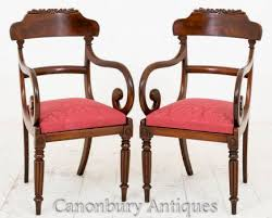 William Iv Dining Chairs Mahogany Dining Chairs Chippendale Balloon Back Victorian Regency
