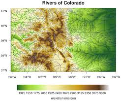 Colorado River On A Map by Topographic Maps