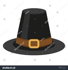 pilgrim hat icon flat style thanksgiving stock vector 736210525