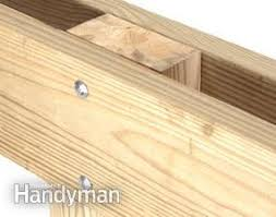 making deck posts family handyman
