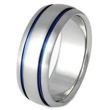 marine wedding rings blue titanium promise ring b10 titanium rings studio