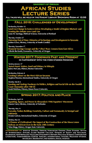 uo african studies lecture series department of history