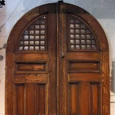 Gothic Revival Home Antique American Gothic Revival Oak Arched Beveled Glass Double Door