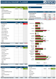 Household Expense Spreadsheet Household Budget Planner Free Budget Spreadsheet For Excel