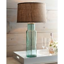 Recycled Glass Light Fixtures by Blue Green Recycled Glass Lamp Neiman Marcus Polyvore