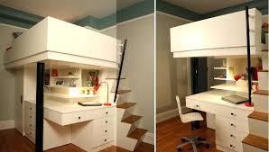 Bunk Bed Desks Bunk Bed With Office Underneath Bed With Desk Cool Mixing Work