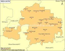 map belgum belgaum parliamentary constituency map election results and