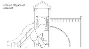 playground for children in garden block in equipment sports and