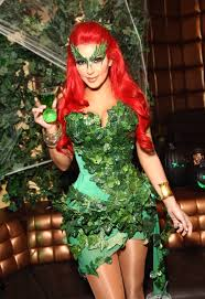 Green Ivy Halloween Costume Kim Kardashian Hosts Midori Green Halloween Costume Party Lavo