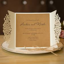 vintage wedding invitations cheap formal white laser cut wedding invitation cards with band ewts015
