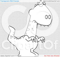 cartoon clipart of a depressed velociraptor dinosaur vector