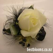 Black And White Corsage Wrist Corsages Photos Best Blooms Florist Auckland New Zealand