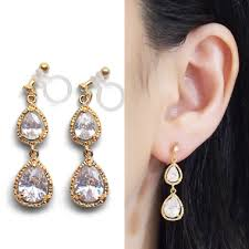 how to make clip on earrings comfortable comfortable and perfectly pierced look glamorous invisible clip on