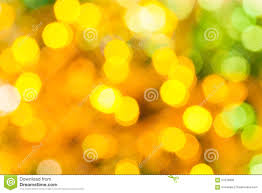 yellow green blurred shimmering lights stock