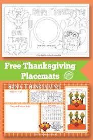 thanksgiving placemat free printable