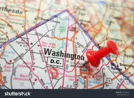 Map Of Washington by Closeup Map Washington Dc Red Pin Stock Photo 196104467 Shutterstock