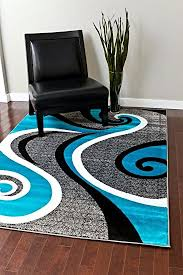 Brown And Black Rugs Amazon Com 0327 Turquoise White Gray Black 5 U00272x7 U00272 Area Rug