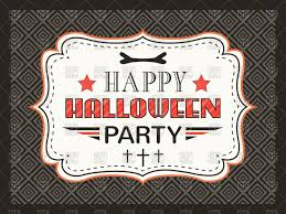 halloween party clipart retro happy halloween party card with simple frame vector image