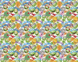 tmnt wrapping paper turtle emoji etsy