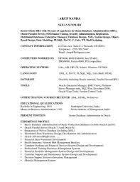 sample resumes and cover letters oracle database administrator cover letter write an essay cvlettermarkcastroco dba resume sql server dba sample resume resume cv cover letter dba resume 16