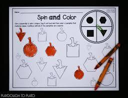 first grade pumpkin activities playdough to plato